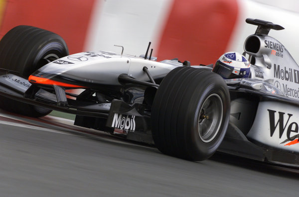 2002 Canadian Grand Prix - RaceMontreal, Canada. 9th June 2002David Coulthard (McLaren MP4/17-Mercedes).World Copyright: Steve Etherington/LATref: Digital Image Only