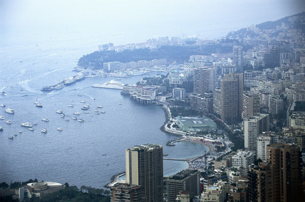 An overhead view of Monte Carlo.