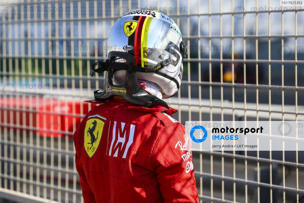 Sebastian Vettel, Ferrari, crashes in FP1