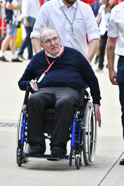 Sir Frank Wiliams, Team Principal, Williams Racing in the paddock