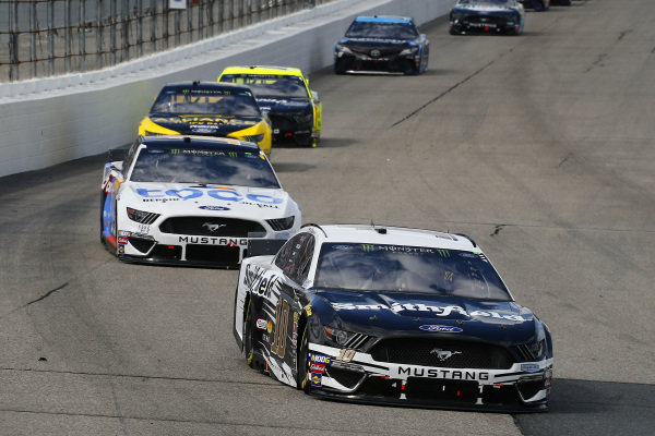 #10: Aric Almirola, Stewart-Haas Racing, Ford Mustang Smithfield and #14: Clint Bowyer, Stewart-Haas Racing, Ford Mustang Toco Warranty/Haas Automation