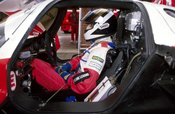 Johnny Dumfries (GBR) in the cockpit of the TOM'S Toyota 90 CV.