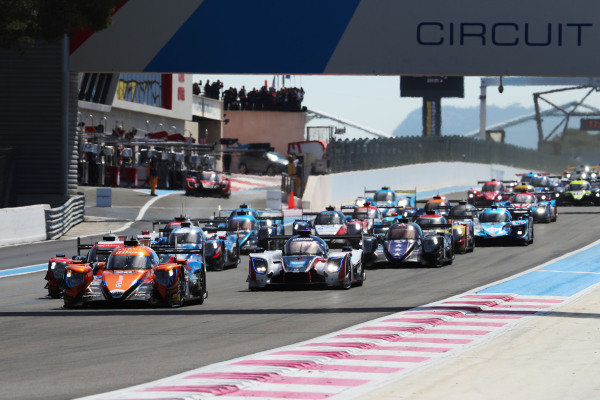 Start of the race, #26 Aurus 01 - Gibson / G-DRIVE RACING / Roman Rusinov / Job Van Uitert / Norman Nato leads