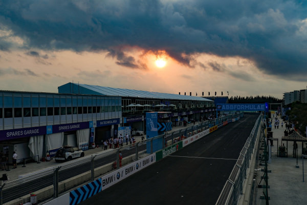 Sunrise over the Sanya circuit.
