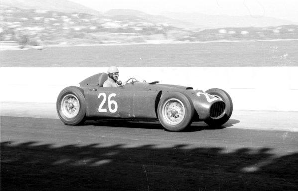 1955 Monaco Grand Prix.Monte Carlo, Monaco.19-22 May 1955.Alberto Ascari (Lancia D50) before he crashed into the harbour.Ref-291/17.World Copyright - LAT Photographic