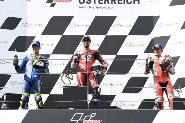 Joan Mir, Team Suzuki MotoGP, Andrea Dovizioso, Ducati Team, Jack Miller, Pramac Racing.