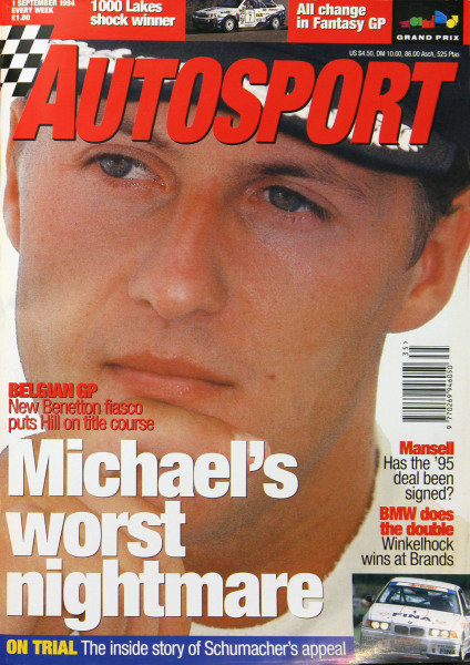 Cover of Autosport magazine, 1st September 1994