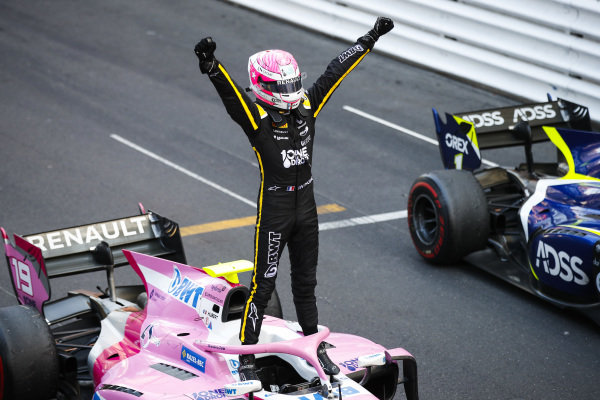 Race winner Anthoine Hubert (FRA, BWT ARDEN) celebrates in parc ferme