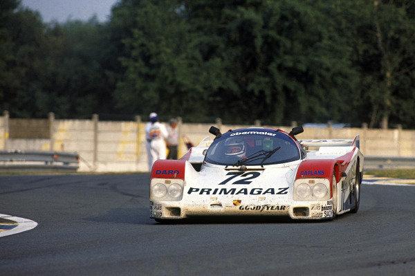 Le Mans, France. 11th - 12th June 1988.Jurgen Lassig/Pierre Yver/Dudley Wood (Porsche 962C), 11th position, action. World Copyright: LAT Photographic.Ref:  88LM79.