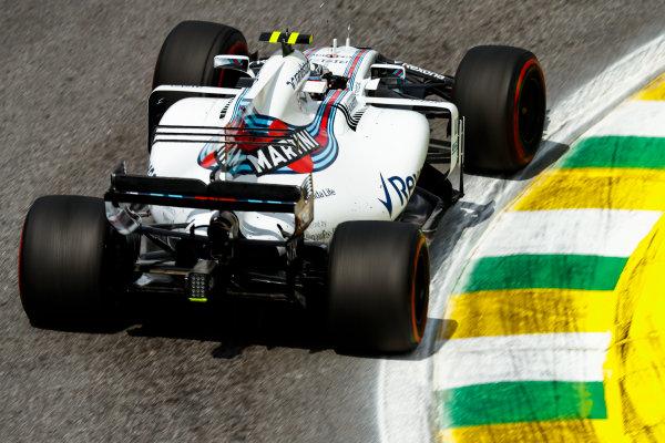 Interlagos, Sao Paulo, Brazil. Friday 10 November 2017. Lance Stroll, Williams FW40 Mercedes. World Copyright: Glenn Dunbar/LAT Images  ref: Digital Image _31I9898