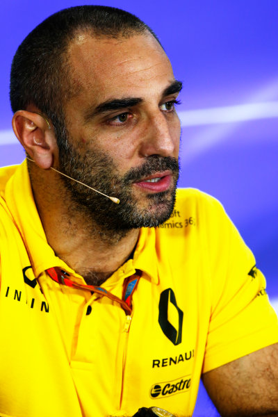 Yas Marina Circuit, Abu Dhabi, United Arab Emirates. Friday 24 November 2017. Cyril Abiteboul, Managing Director, Renault Sport F1. World Copyright: Andy Hone/LAT Images  ref: Digital Image _ONY0891