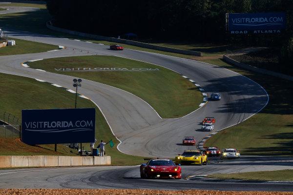 1-4 October 2014, Braselton, Georgia USA  49, Ferrari, 458 Italia, GTD, Piergiuseppe Perazzini, Marco Cioci, Eddie Cheever III ©2014, Michael L. Levitt LAT Photo USA