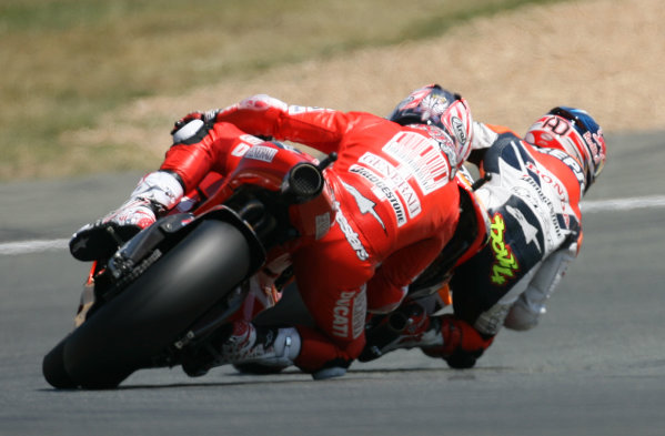 France LeMans 21- 23 May 2010Nicky Hayden Ducati Marlboro Team follows Andrea Dovizioso Repsol Honda Team