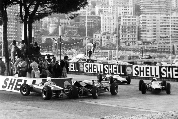 1966 Monaco F3 Grand Prix.Monte Carlo, Monaco. 22 May 1966.Accident at the hairpin, action.World Copyright: LAT PhotographicRef: Motor b&w print