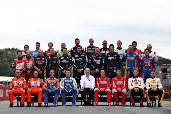 The 2011 Australian V8 Supercar driver line-up.Australian V8 Supercars, Rd2, Clipsal 500, Adelaide, Australia, 20 March 2011.