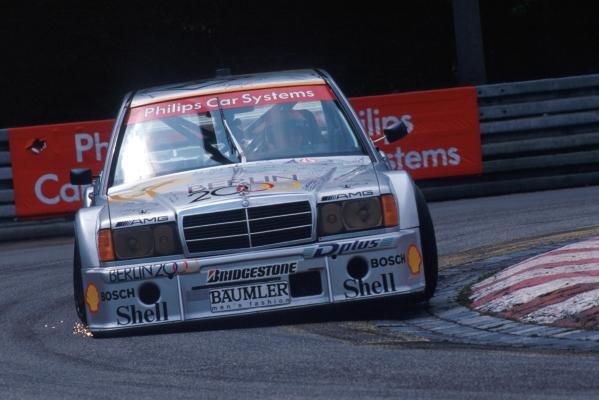 Ellen Lohr (GER) Mercedes negotiates a tight bend.German Touring Car Championship, Norisring, Germany, 27 June 1993.