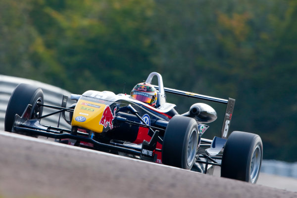 Dijon - Prenois, France. Sunday 11th October. Brendon Hartley (Carlin Motorsport Dallara F308 / Volkswagen). Action. World Copyright: Alastair Staley/LAT Photographic.Ref: _O9T9612 jpg