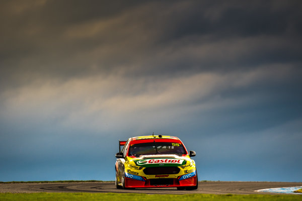2017 Supercars Championship Round 3.  Phillip Island 500, Phillip Island, Victoria, Australia. Friday 21st April to Sunday 23rd April 2017. Chaz Mostert drives the #55 Supercheap Auto Racing Ford Falcon FGX. World Copyright: Daniel Kalisz/LAT Images Ref: Digital Image 210417_VASCR3_DKIMG_1755.JPG