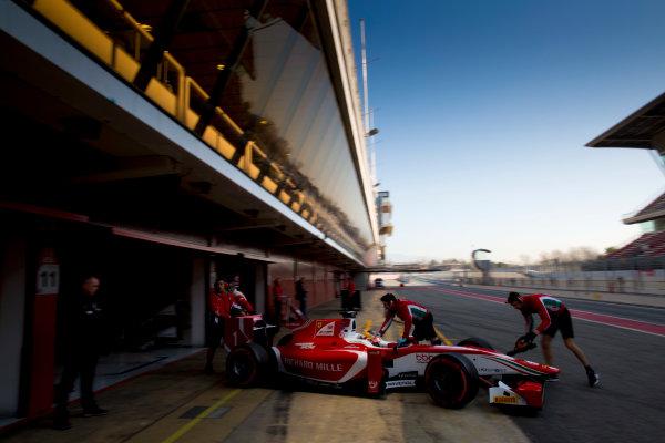 Circuit de Barcelona Catalunya, Barcelona, Spain. Tuesday 14 March 2017. Charles Leclerc (MON, PREMA Racing). Action.  Photo: Alastair Staley/FIA Formula 2 ref: Digital Image 580A0809