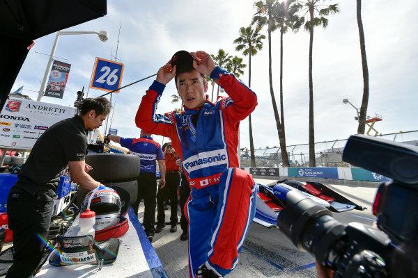 2017 Verizon IndyCar Series Toyota Grand Prix of Long Beach Streets of Long Beach, CA USA Friday 7 April 2017 Takuma Sato World Copyright: Scott R LePage/LAT Images ref: Digital Image lepage-170407-LB-0814
