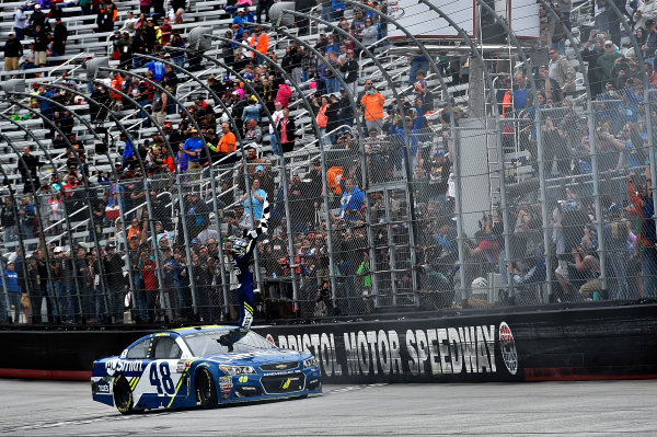 Monster Energy NASCAR Cup Series Food City 500 Bristol Motor Speedway, Bristol, TN USA Jimmie Johnson wins the Food City 500 World Copyright: Rusty Jarrett LAT Images ref: Digital Image 17BMS1rj_8654