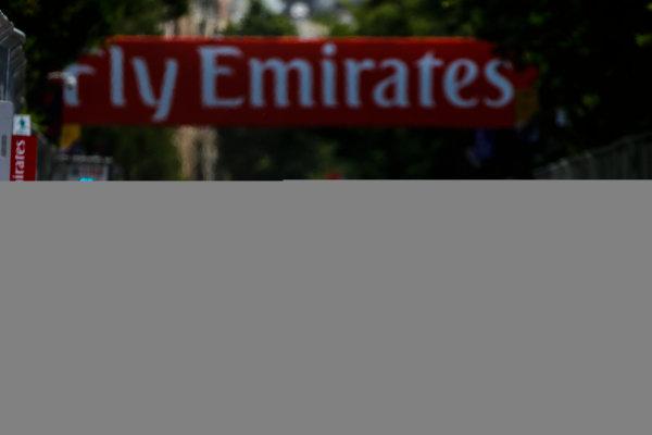 2016 GP2 Series Round 3 Baku, Azerbaijan. Saturday 18 June 2016. Raffaele Marciello (ITA, RUSSIAN TIME) leads Luca Ghiotto (ITA, Trident)  Photo: Andy Hone/GP2 Series Media Service. ref: Digital Image _ONY0635