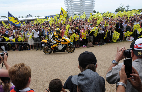 2015 Goodwood Festival of Speed 25th - 28th June 2015 Valentino Rossi World Copyright : Jeff Bloxham/LAT Photographic Ref : Digital Image
