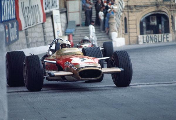 1969 Monaco Grand Prix.Monte Carlo, Monaco.15-18 May 1969.Richard Attwood (Lotus 49B Ford) 4th position.Ref-69 MON 08.World Copyright - LAT Photographic