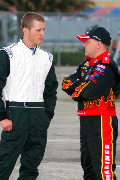 2004 NASCAR Busch Series TestingDaytona International Speedway, USA. 18th January 2004.Kasey Kahne and Bobby Hamilton Jr, portrait.World Copyright: Greg Aleck/LAT Photographicref: Digital Image Only
