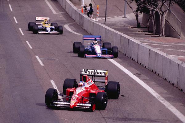 1990 United States Grand Prix.Phoenix, Arizona, USA.9-11 March 1990.Gianni Morbidelli (Scuderia Italia/Dallara 190 Ford).Ref-90 USA 47.World Copyright - LAT Photographic