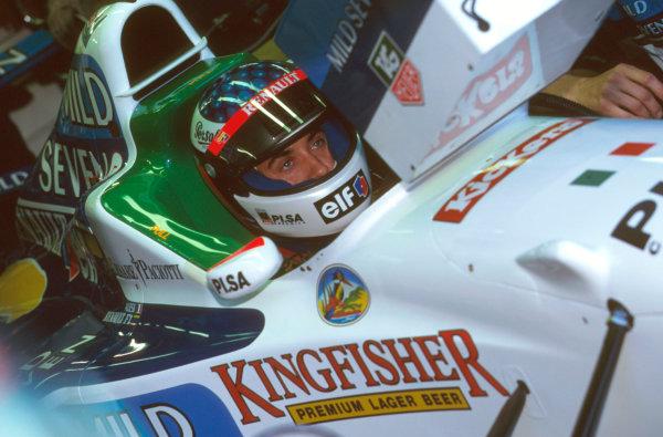 Monza, Italy.6-8 September 1996.Jean Alesi (Benetton B196 Renault) 2nd position.Ref-96 ITA 28.World Copyright - LAT Photographic