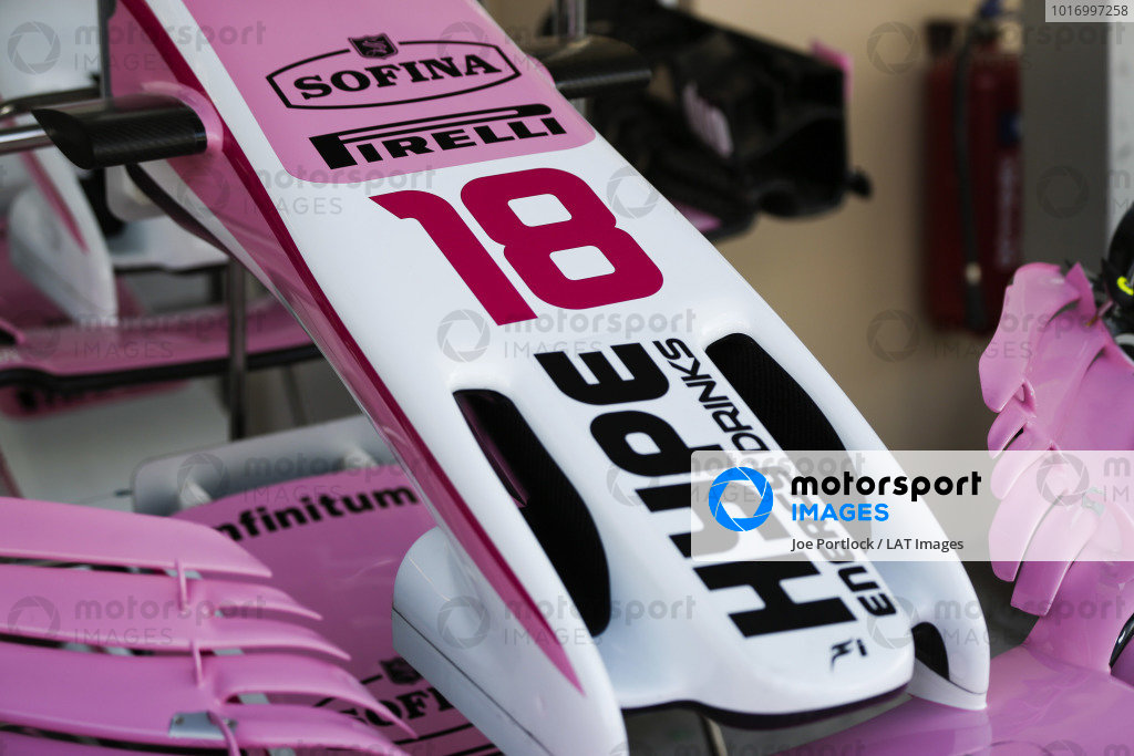 Nose detail of the Sergio Perez Racing Point Force India VJM11.