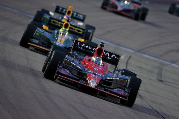 24-25 June, 2011, Newton, Iowa USMarco Andretti leads Tony Kanaan and Takuma Sato(c)2011, Phillip AbbottLAT Photo USA