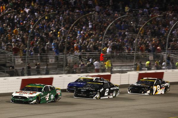 #4: Kevin Harvick, Stewart-Haas Racing, Ford Mustang Hunt Brothers Pizza, #2: Brad Keselowski, Team Penske, Ford Mustang Western Star