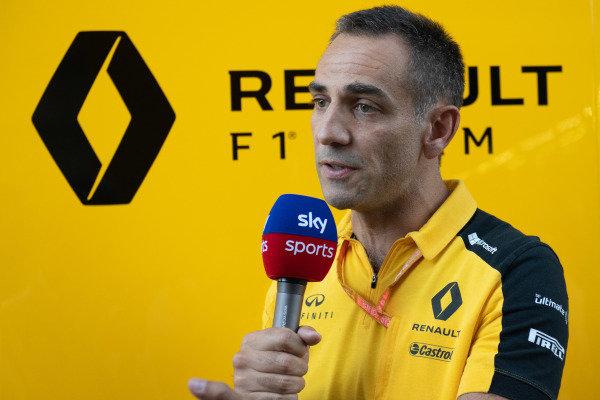 Cyril Abiteboul, Managing Director, Renault F1 Team, is interviewed