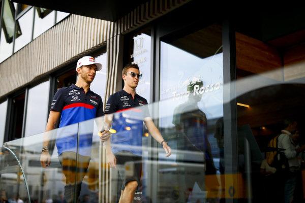 Pierre Gasly, Toro Rosso and Daniil Kvyat, Toro Rosso