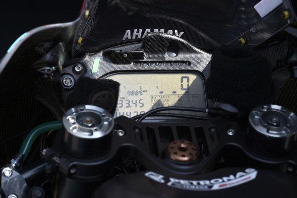 Petronas Yamaha SRT dash.