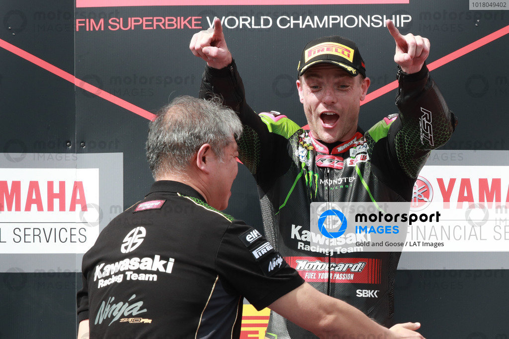 Race winner Alex Lowes, Kawasaki Racing Team.