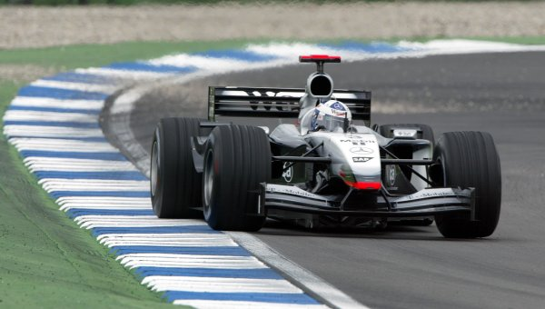 2002 German Grand Prix - PracticeHockenheim, Germany. 26th July 2002.David Coulthard (McLaren MP4/17 Mercedes).World Copyright: Steve Etherington/LATref: Digital Image Only