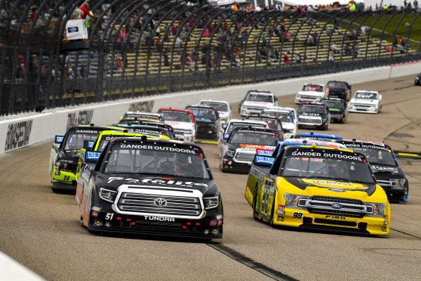 #51: Chandler Smith, Kyle Busch Motorsports, Toyota Tundra Toyota Safelite AutoGlass, #99: Ben Rhodes, ThorSport Racing, Ford F-150