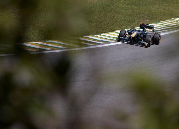 Interlagos, Sao Paulo, Brazil. 25th November 2011. Heikki Kovalainen, Lotus T128 Renault. Action.  World Copyright: Steve Etherington/LAT Photographic ref: Digital Image SNE24653