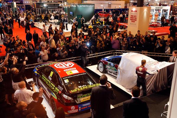 Autosport International Show NEC, Birmingham.  Thursday 10th January 2013. The new Ford Fiesta Rally Car is unveiled. World Copyright:Andrew Ferraro/LAT Photographic ref: Digital Image _79P2926