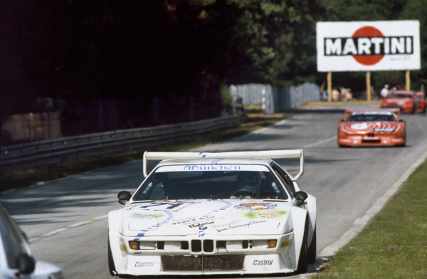 1981 Le Mans 24 Hours. Le Mans, France. 13th - 14th June 1981. Christian Danner / Leopold von Bayern / Peter Oberndorfer (BMW M1), retired, action.  World Copyright: LAT Photographic. Ref: 81LM38.