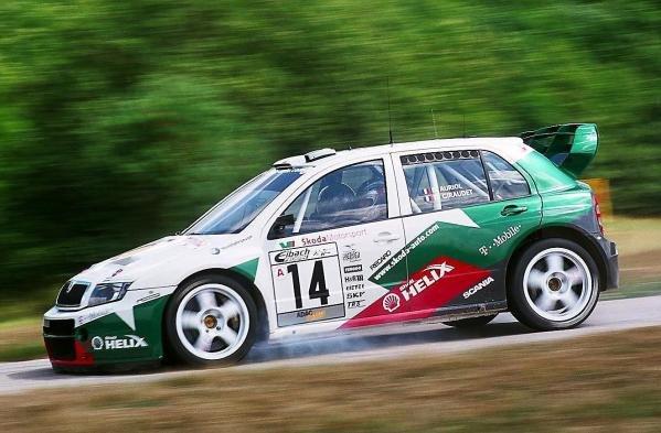 Didier Auriol (FRA) in the new Skoda Fabia WRC.World Rally Championship, Rd8, Rallye Deutschland, Trier, Germany. 23-27 July 2003.DIGITAL IMAGE