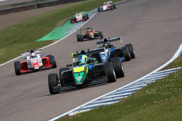 2017 BRDC Formula 3 Championship, Rockingham, England. 29th-30th April 2017, Guilherme Samaia (BRA) Double R Racing BRDC F3 World copyright. JEP/LAT Images