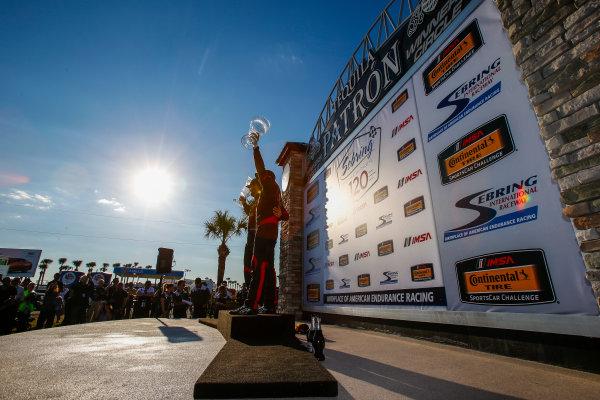 2017 IMSA Continental Tire SportsCar Challenge Visit Sebring 120 Sebring International Raceway, Sebring, FL USA Friday 17 March 2017 Continental Tire SportsCar Challenge Podium, ST World Copyright: Jake Galstad/LAT Images ref: Digital Image lat-galstad-SIR-0317-14017