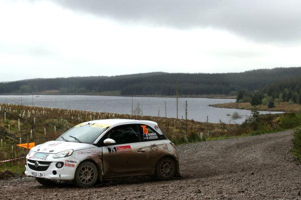 2017 Prestone MSA British Rally Championship,  Scottish Rally, Dumfries. 19th - 20th May 2017. Arron Windows / Aaron Johnston Vauxhall Adam R2. World Copyright: JEP / LAT Images.