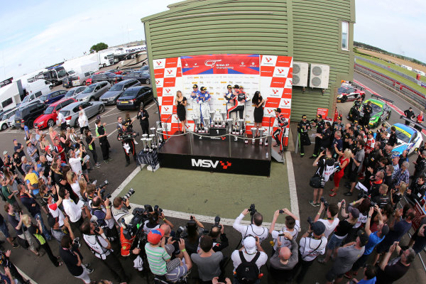 2017 British GT Championship Snetterton, 27th-28th May 2017, Podium  World copyright. JEP/LAT Images