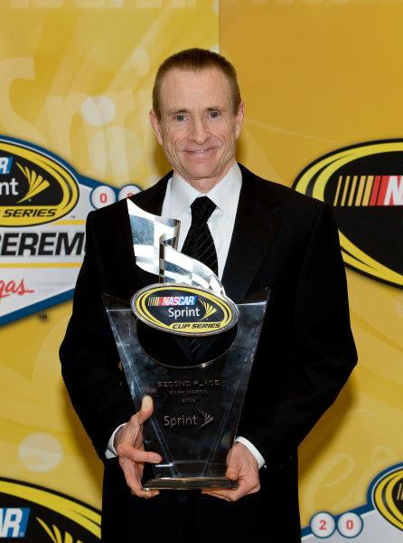 1-4 December, 2009, Las Vegas, Nevada, USAMark Martin with trophy©2009, Michael L. Levitt, USALAT Photographic