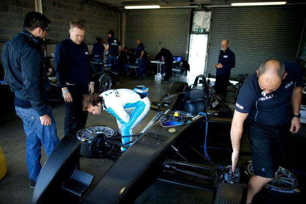 FIA Formula E Test Day, Donington Park, UK.  9th - 10th July 2014.  Jarno Trulli, Trulli GP. Photo: Glenn Dunbar/FIA Formula E ref: Digital Image _W2Q9474